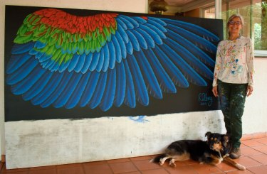 Macaw Wing as a painting